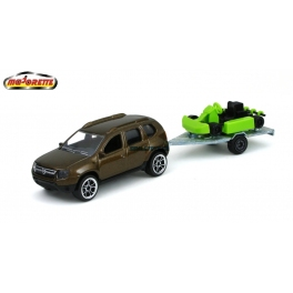Dacia Duster s motokárou Majorette