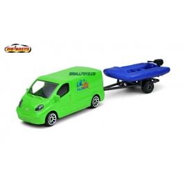 Renault Trafic s člunem Majorette
