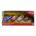 Cars 3 sada autíček - 4 kusy Mattel FGR88