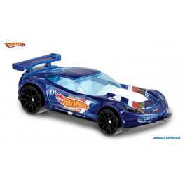 Chevrolet Corvette C7.R Hot Wheels modrá