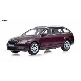 Škoda Octavia 2013 combi Abrex 1:43 vínová metalíza