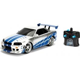 Nissan Skyline GTR Fast & Furious RC auto Jada 1:24
