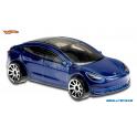 Tesla Model 3 Hot Wheels modrá