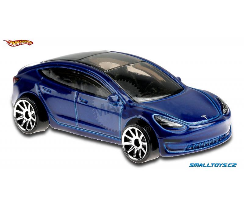 Tesla Model 3 Hot Wheels modrá - SmallToys