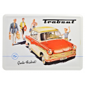 Plechová pohlednice Trabant 601 Gute Fahrt !